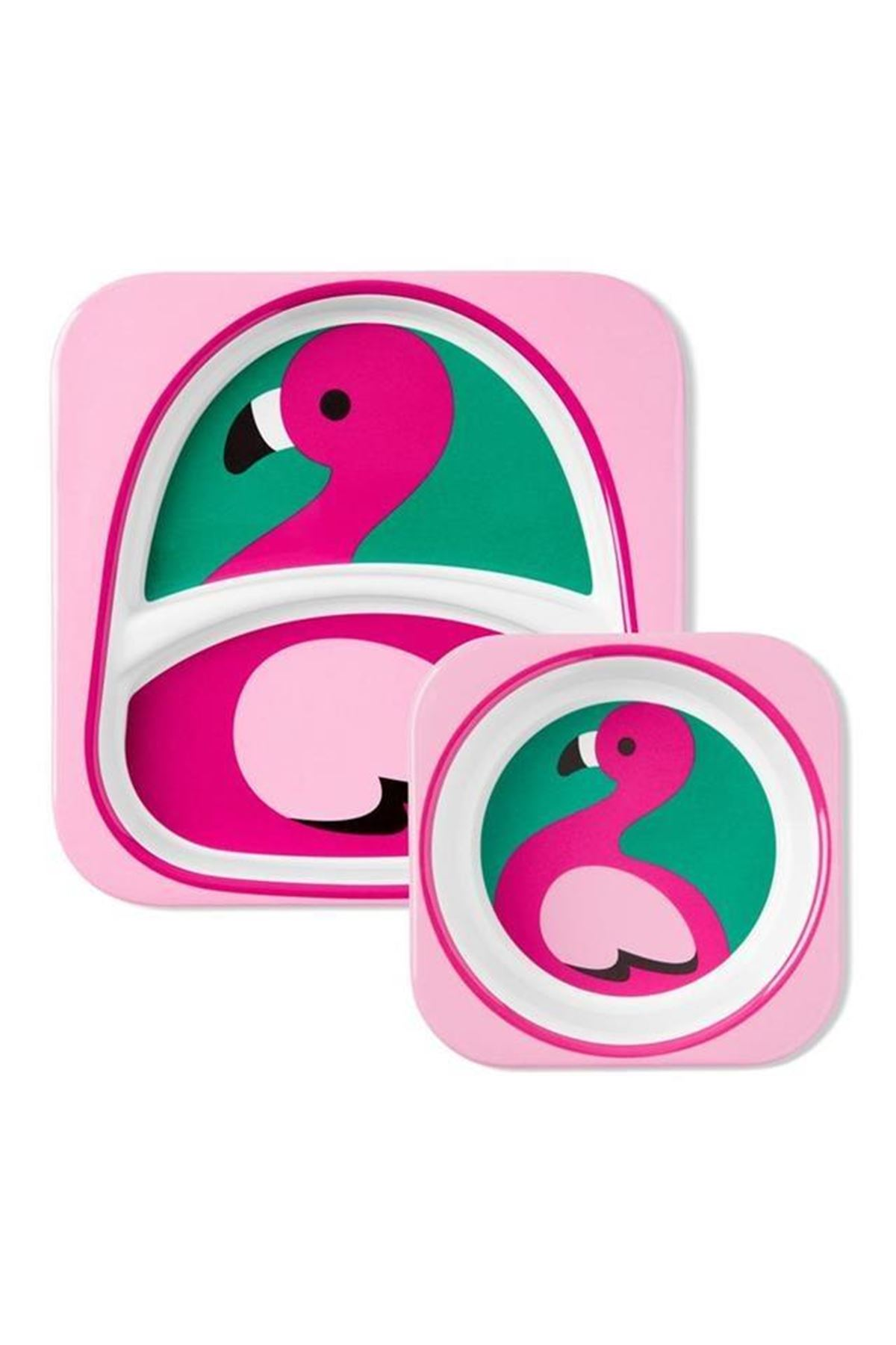 Skip Hop Zoo Tabak ve Kase Hediye Seti Flamingo