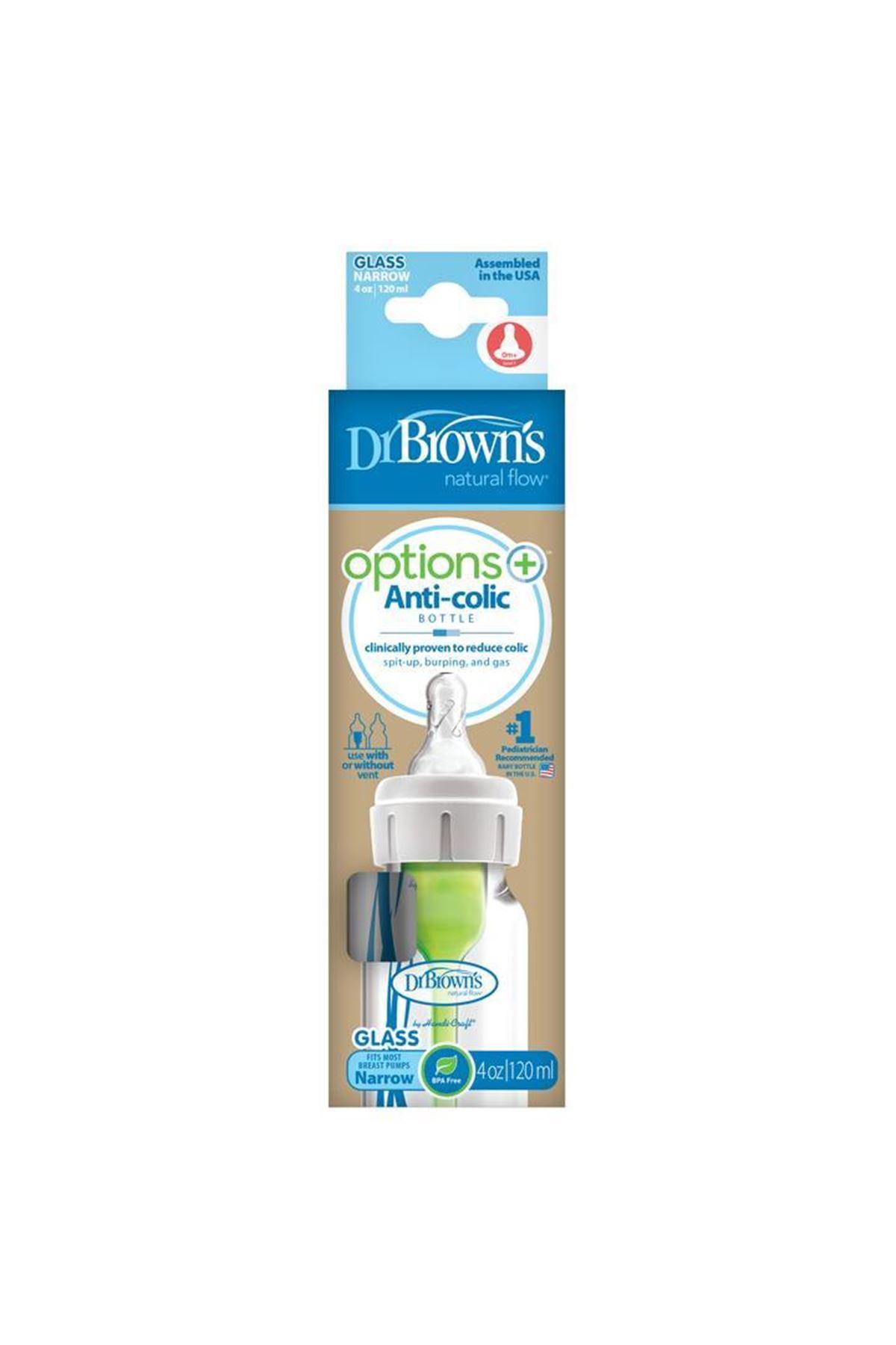 Dr Brown's Cam Dar Ağız Biberon Antikolik 120 ML
