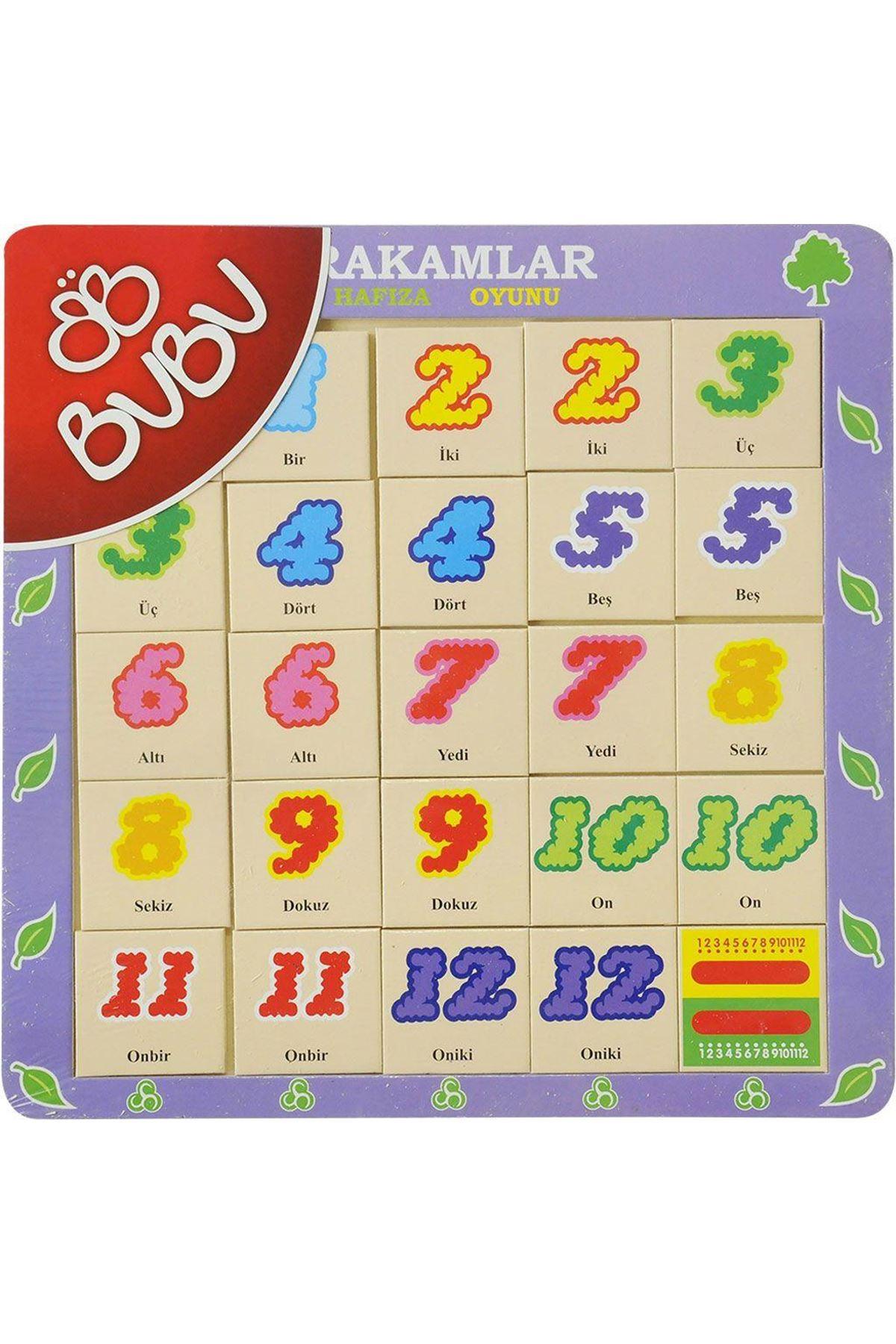 Bu-Bu Ahşap Puzzle Sayılar Hafıza Oyunu 0062