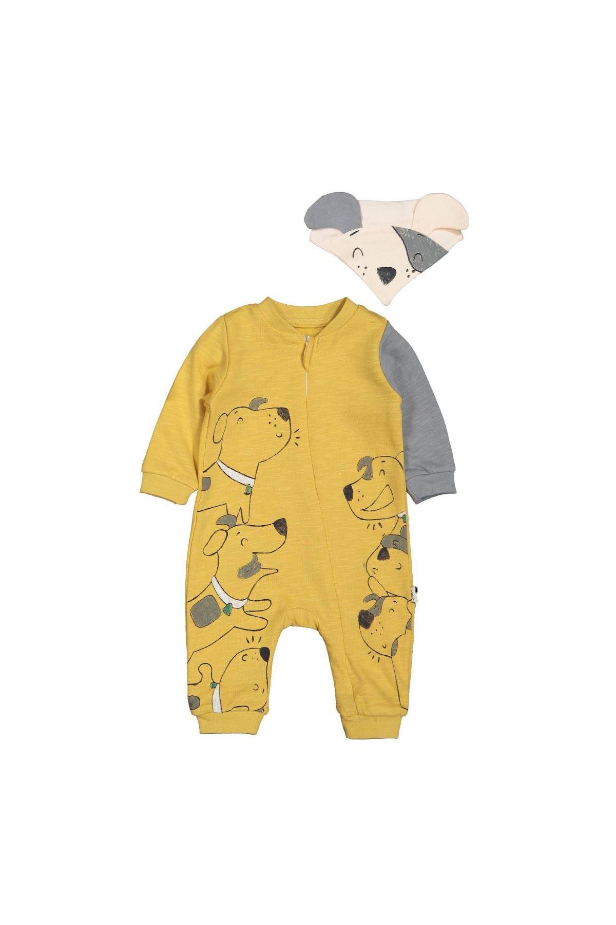 Tongs Baby Barks Fermuarlı Tulum 2941 Sarı