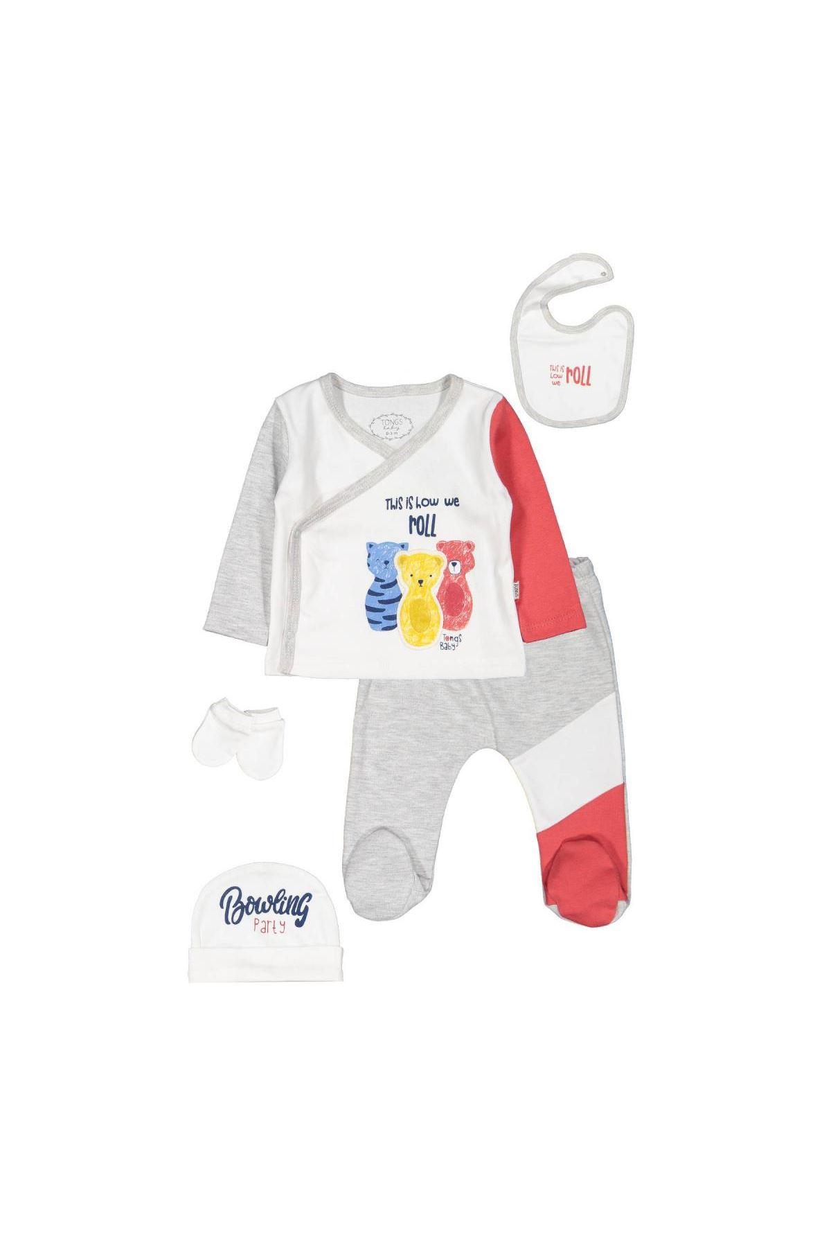 Tongs Baby Bowling Zıbın Set 2955 Kırmızı