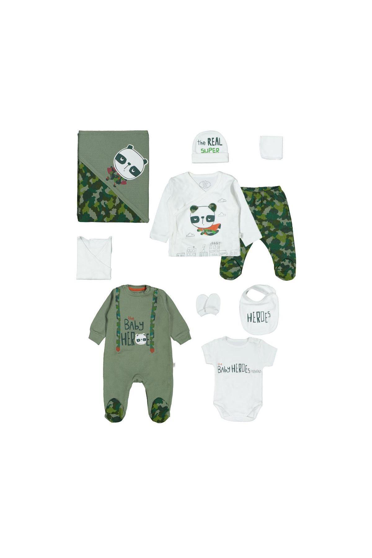 Tongs Baby Hero Tulumlu 10 Parça Zıbın Seti 3311 Yeşil