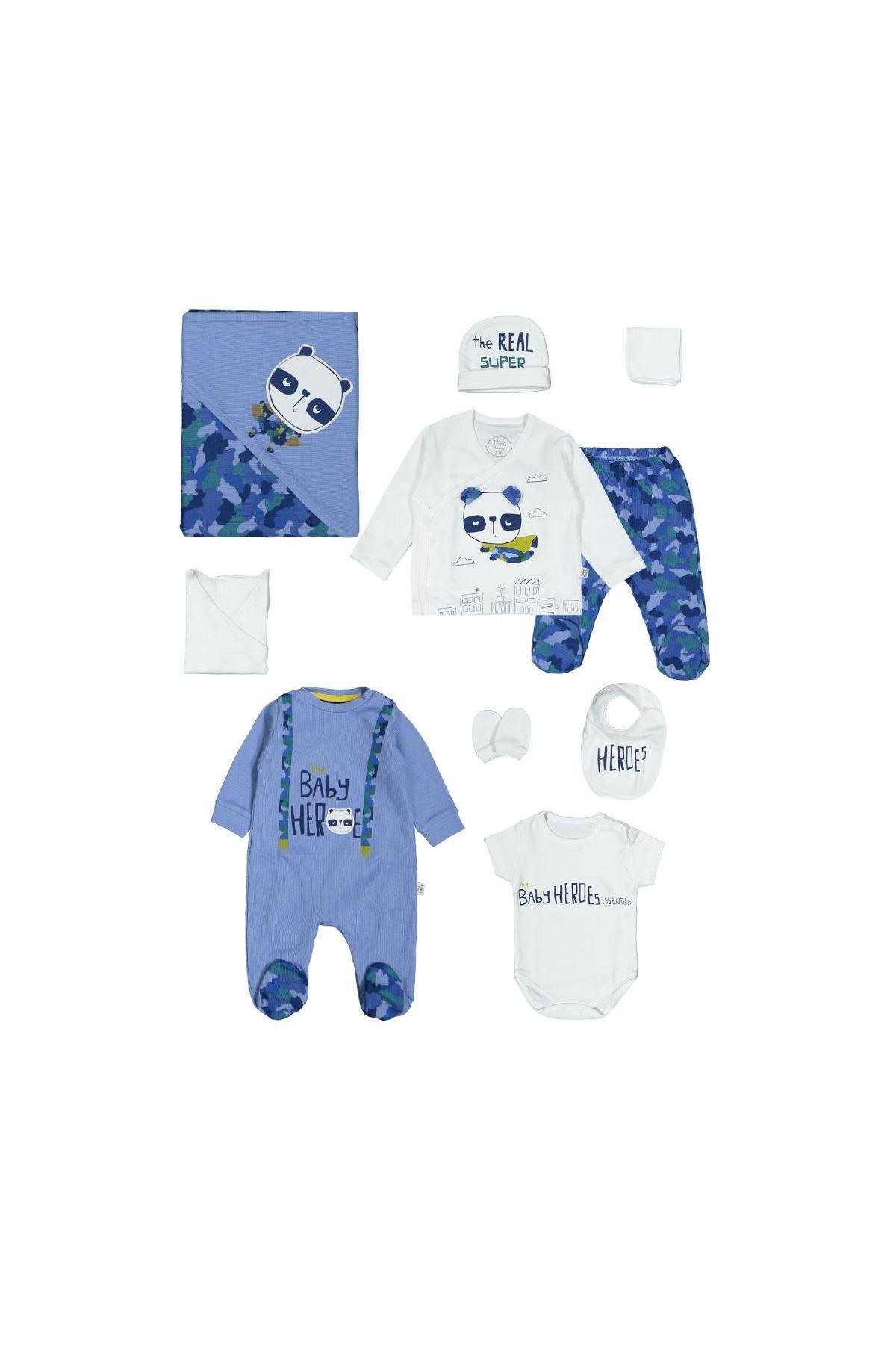 Tongs Baby Hero Tulumlu 10 Parça Zıbın Seti 3311 Mavi
