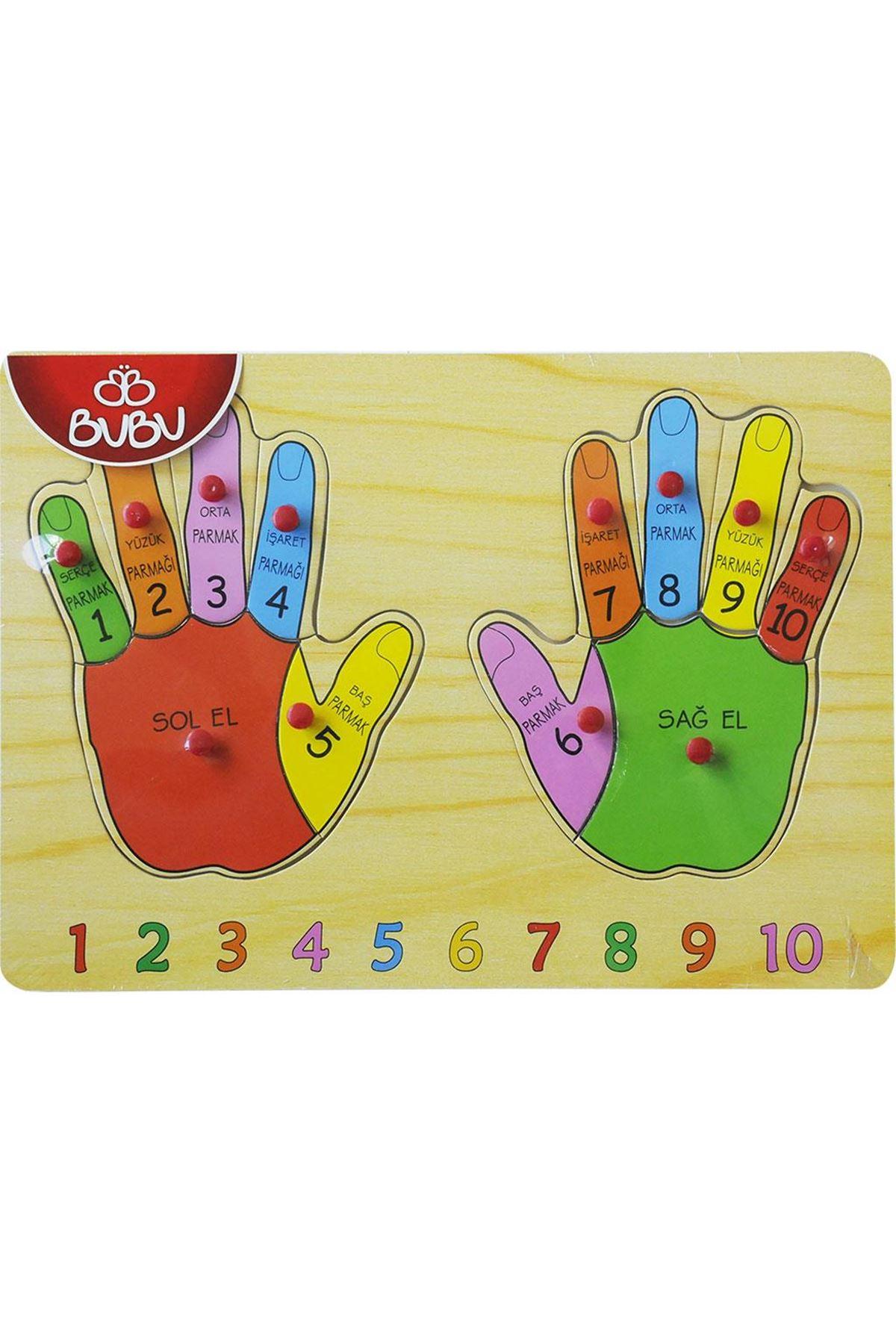 Bu-Bu Ahşap Puzzle Parmaklar 0056