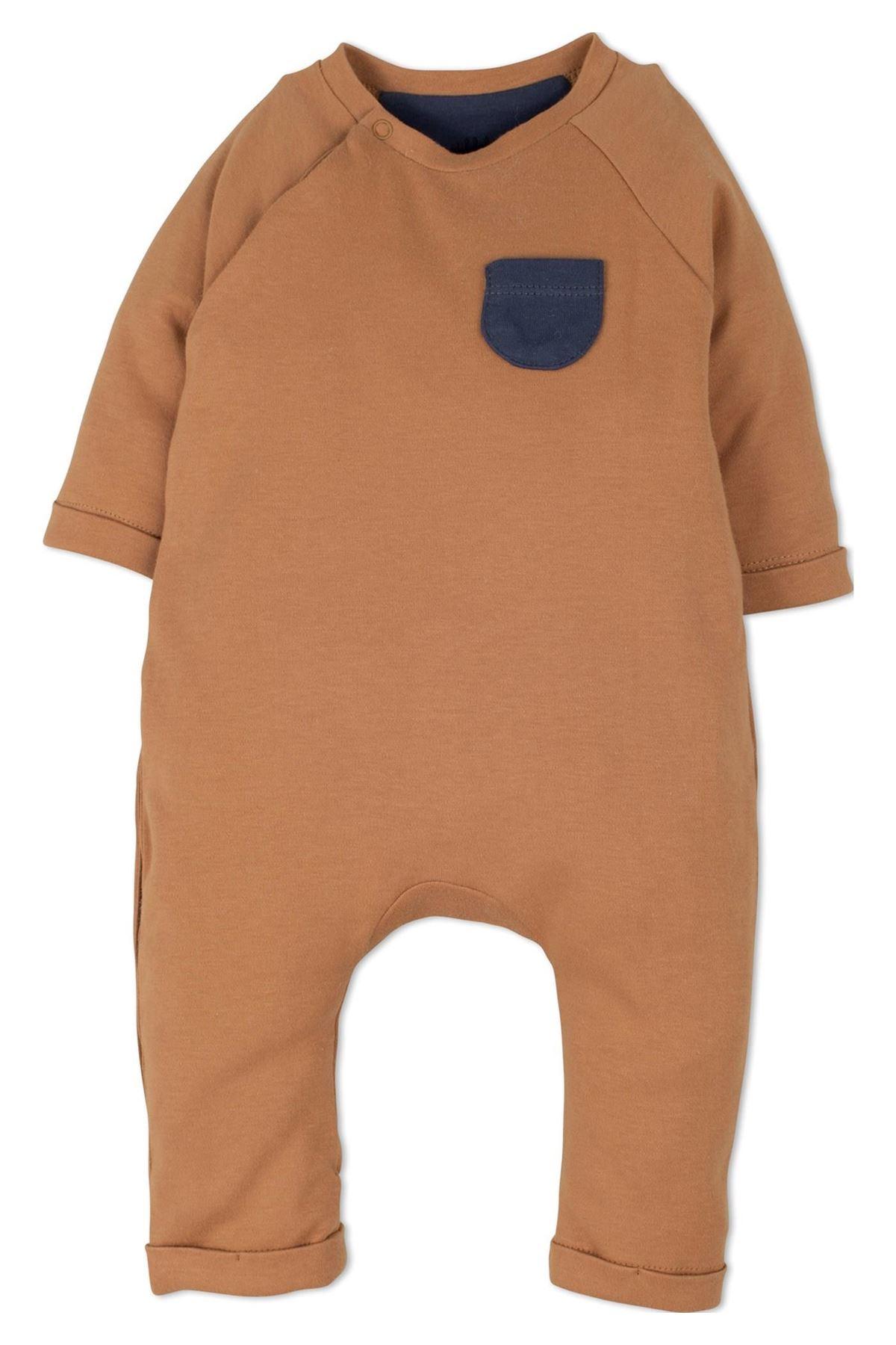 İdil Baby 14259 Bebek Tulum Hardal