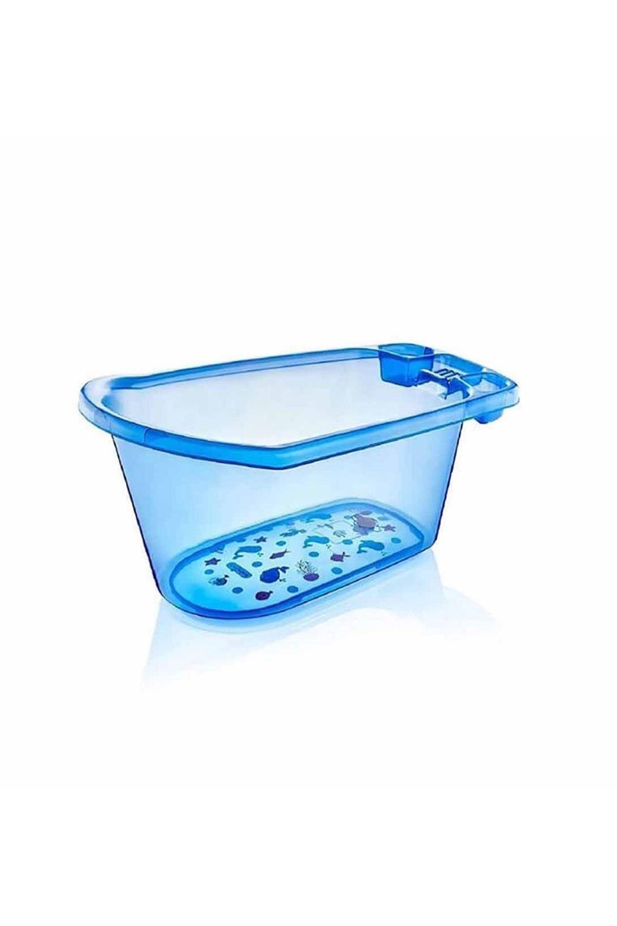BabyJem Bebek Banyo Küveti Şeffaf Desenli 001 Mavi