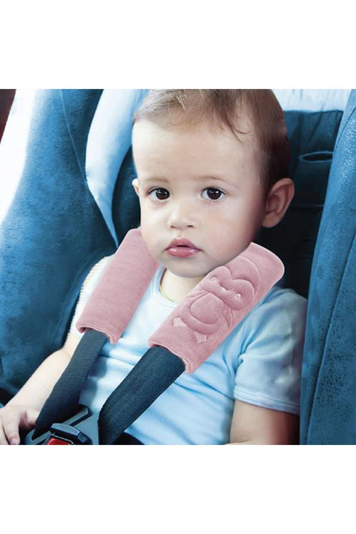 BabyJem Emniyet Kemeri Boyun Koruyucu 349 Gül Kurusu