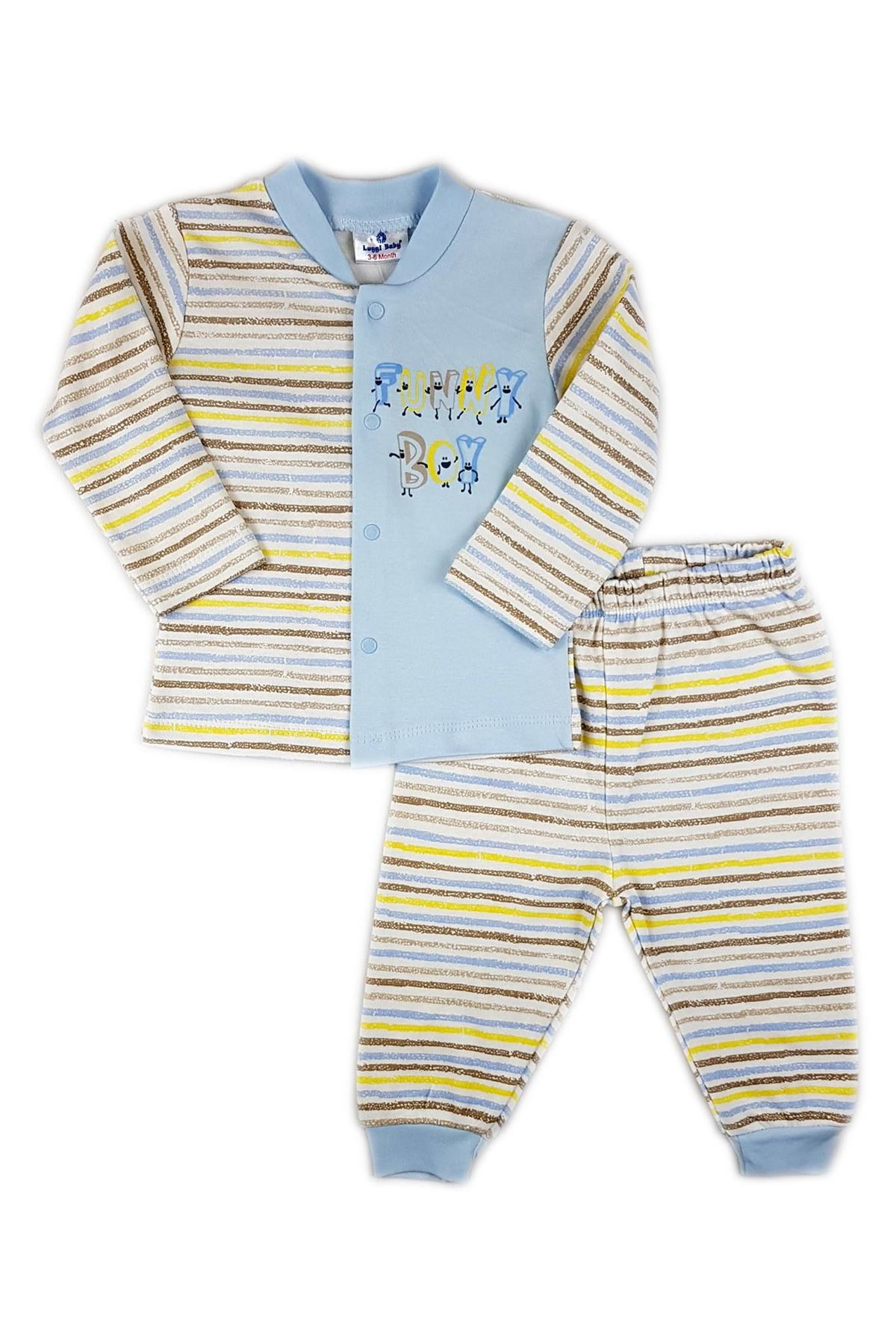 Luggi Baby Funny Bebek Pijama Takım LG-5420 Karışık Renkli