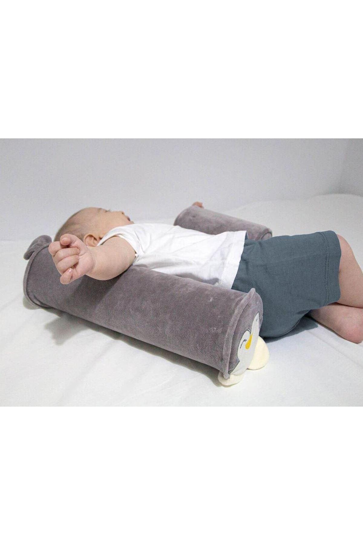 BabyJem Güvenli Uyku Yastığı 679 Gri Penguen