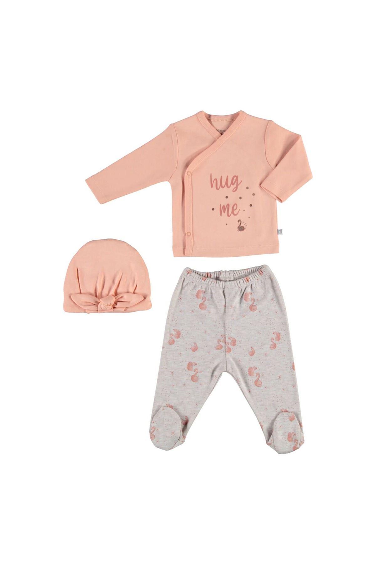 Bibaby Pink Royal 3Lü Zıbın Set 73243 Somon Bejmelanj