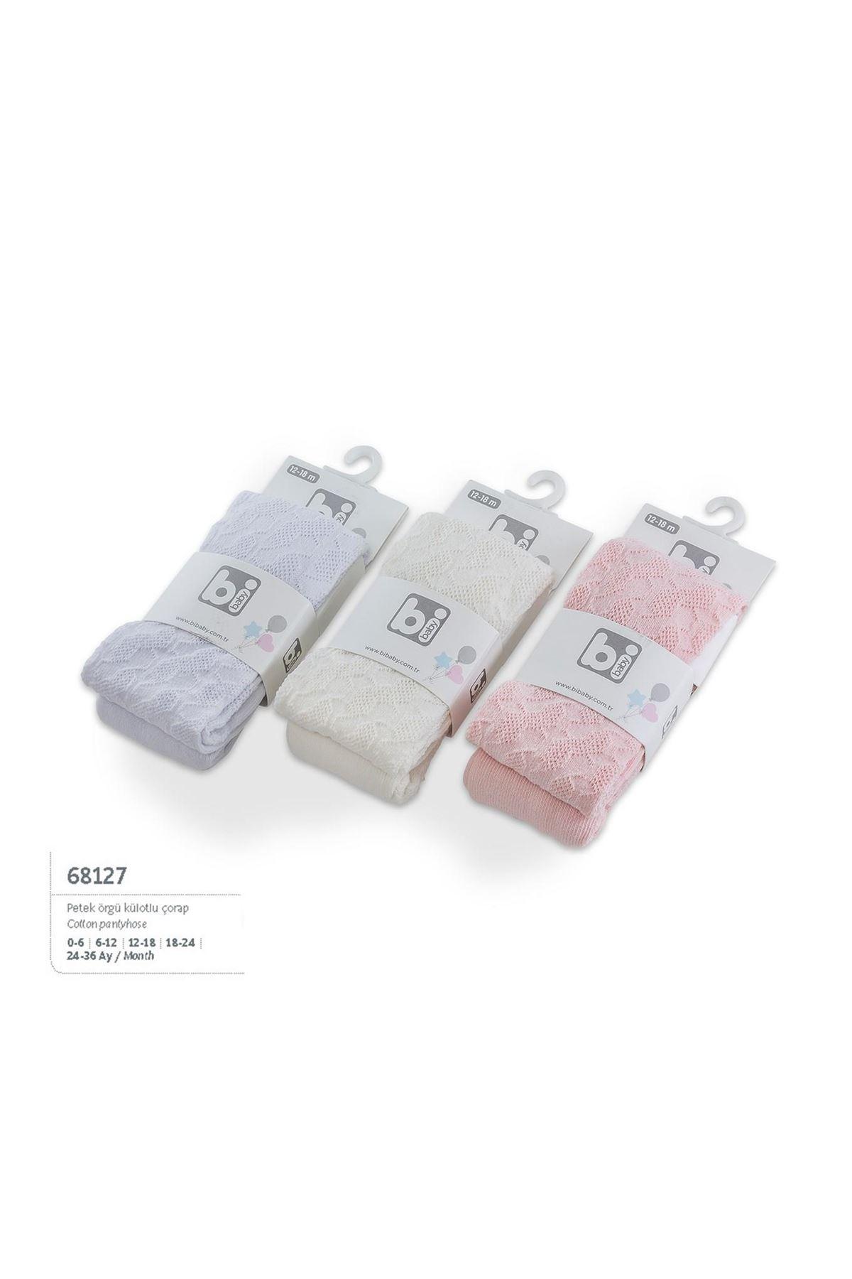 Bibaby Petek Örgü Külotlu Çorap 68127 Karışık Renkli