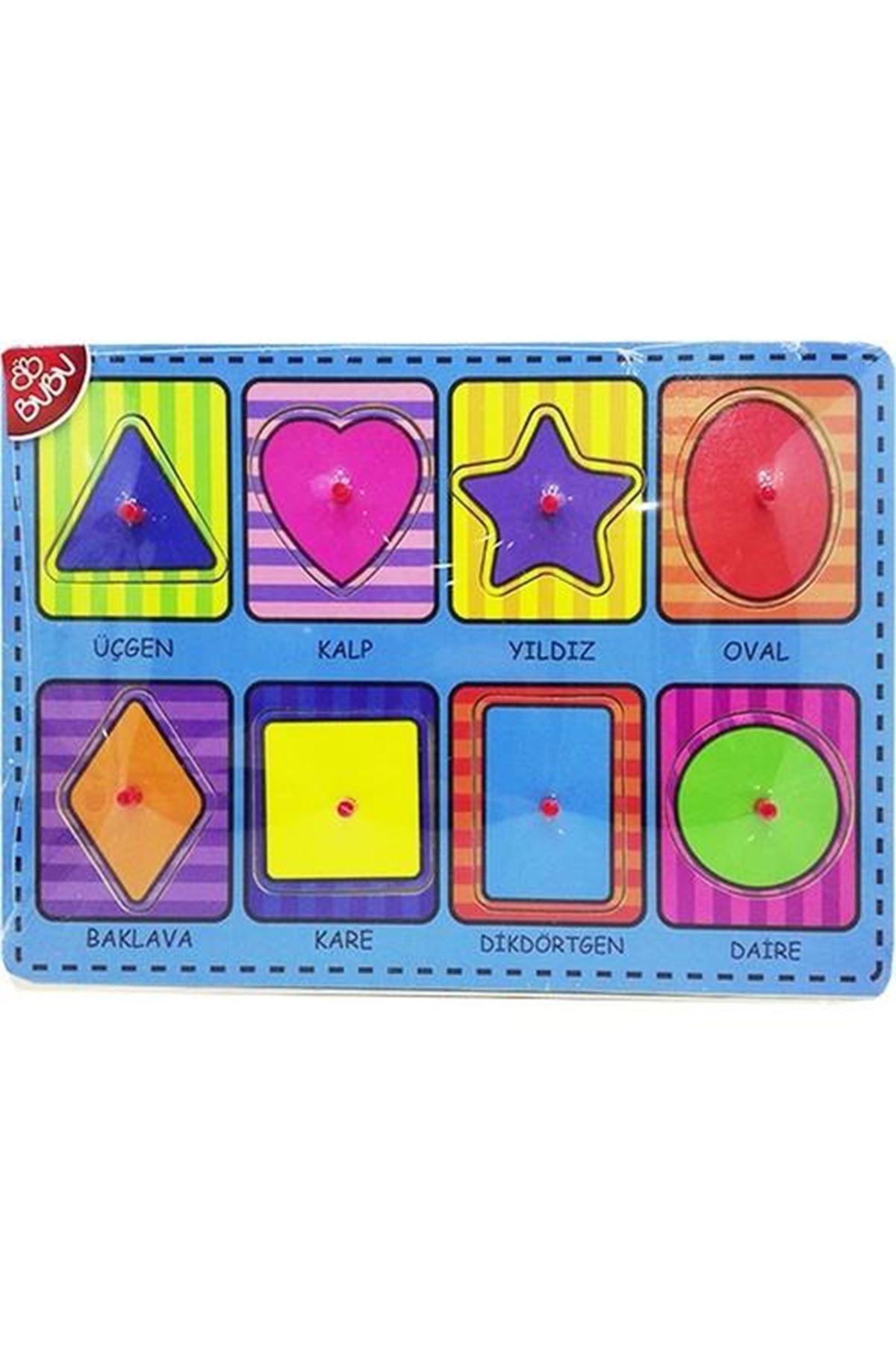 Bu-Bu Ahşap Puzzle Şekiller 0058