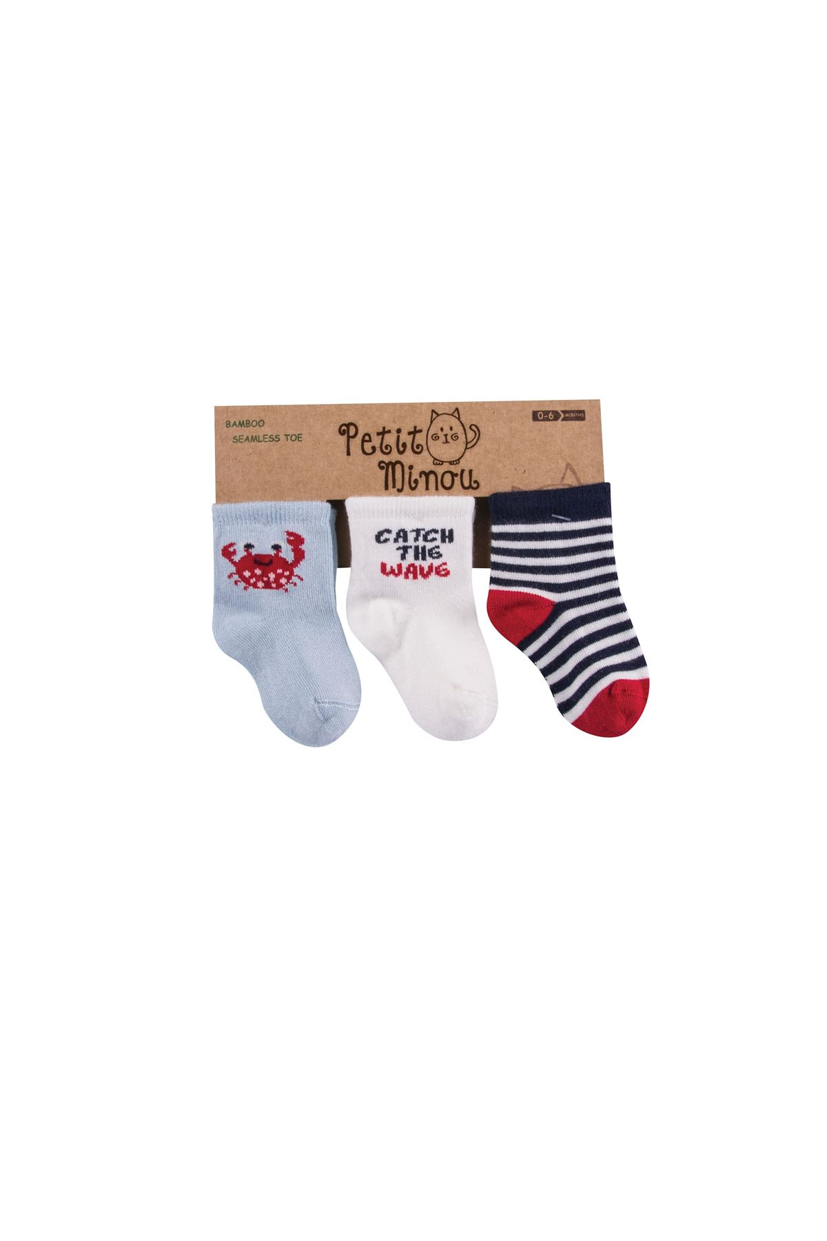 Step 3lü Crab Soket Çorap 2122 Karışık Renkli