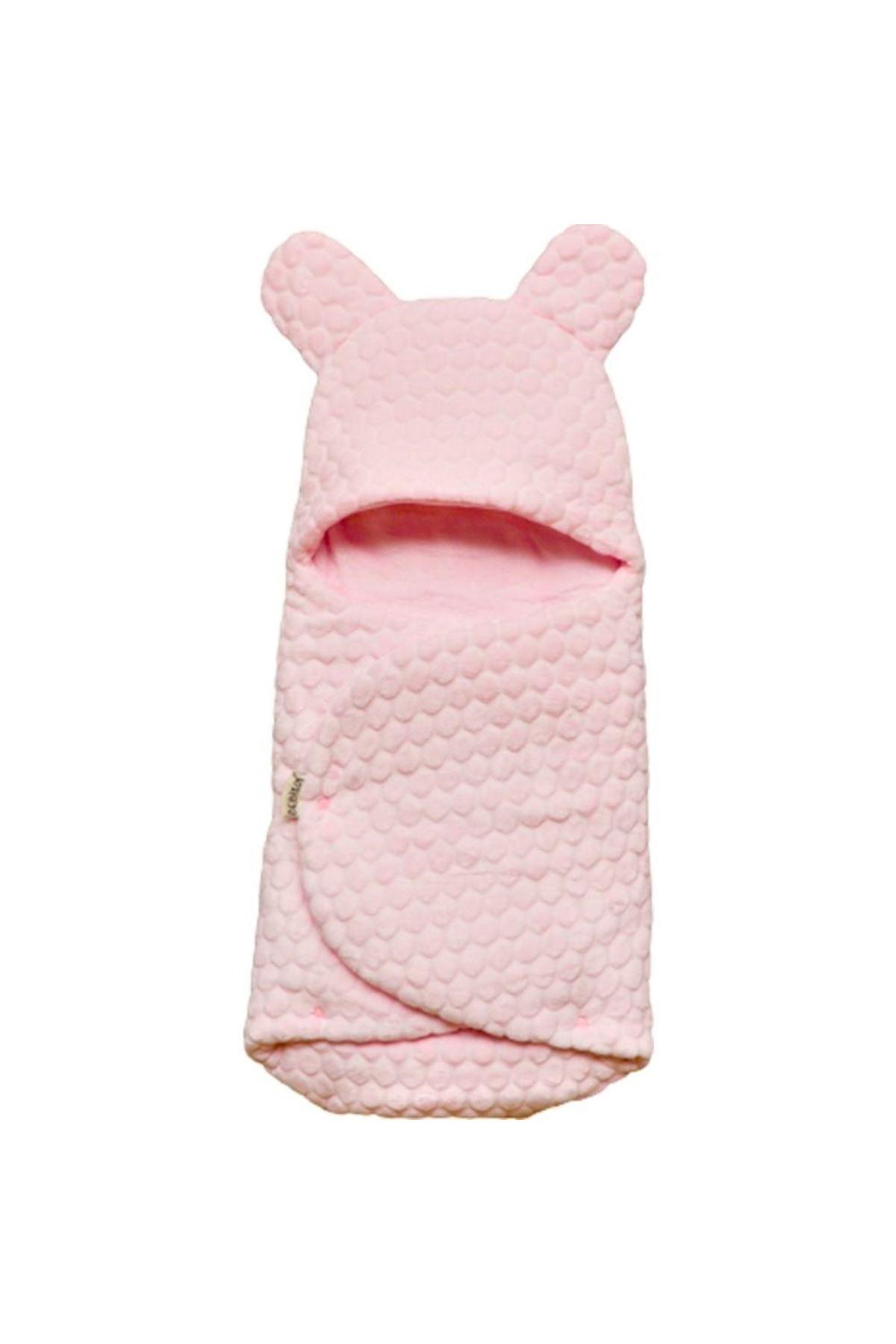 Bebitof Baby Kabartmalı Velboa Kundak 95025 Pembe
