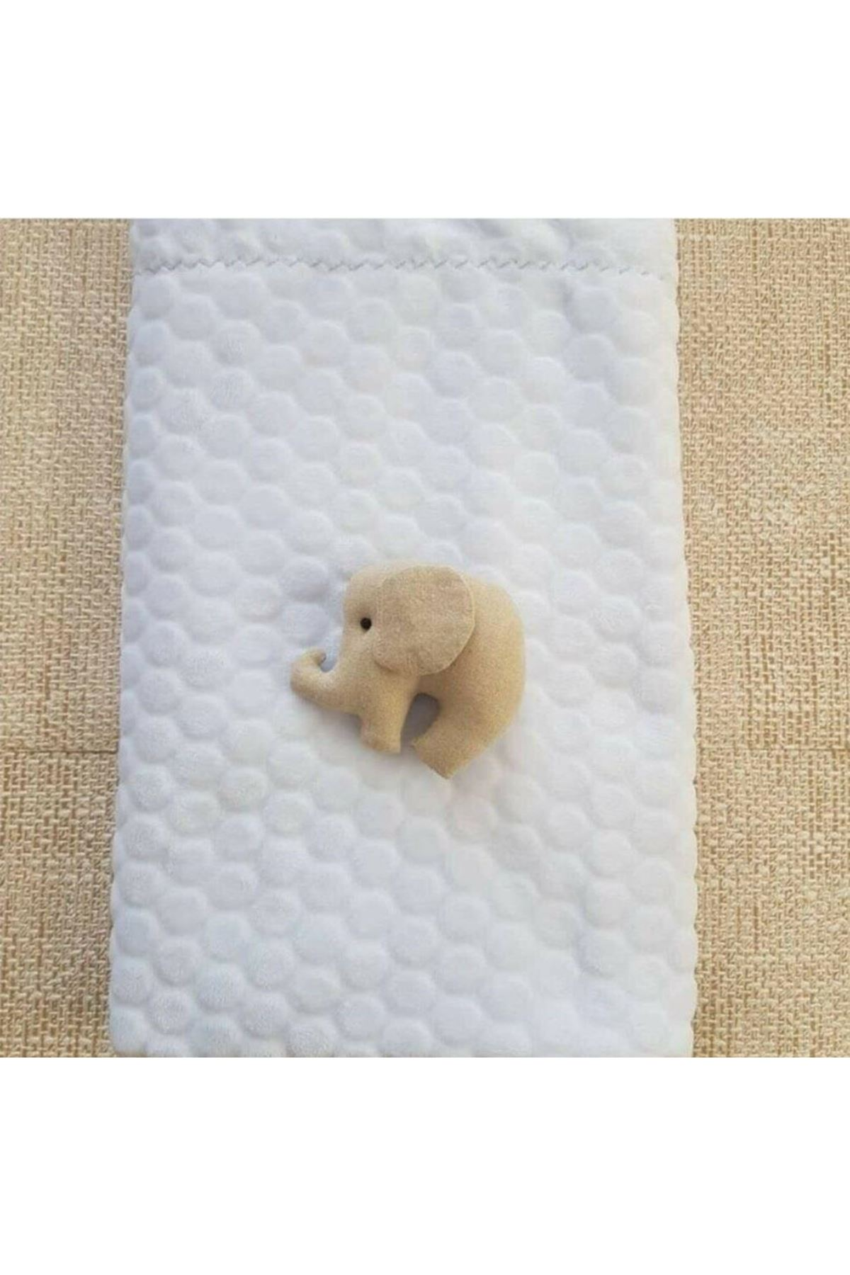 Bebitof Baby Kabartmalı Velboa Bebe Battaniye 95024 Ekru
