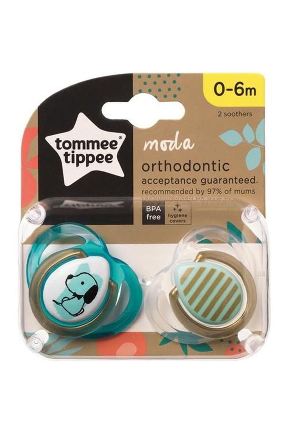 Tommee Tippee Ortodondik Moda Emzik 2Li 0-6 Ay 433488 Erkek