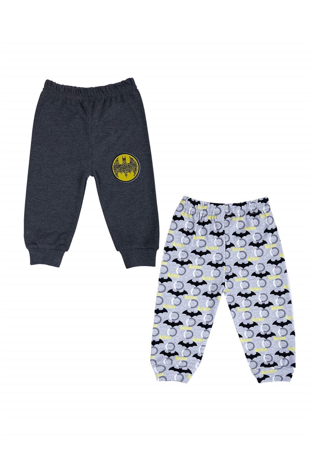 Çimpa Batman 2Li Patiksiz Pantolon BM18269 Gri-Antrasit