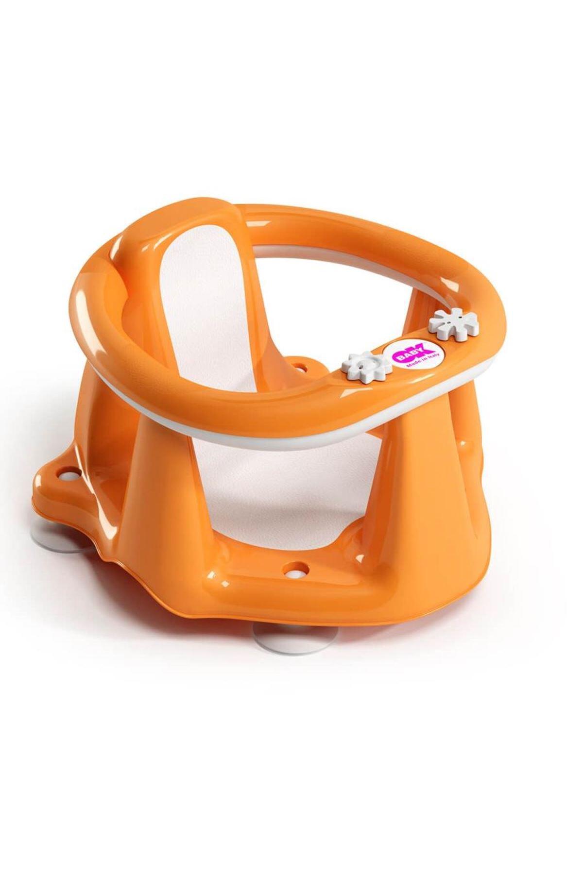 OkBaby Flipper Evol Banyo Oturağı & Hippo Banyo Siperliği / Turuncu