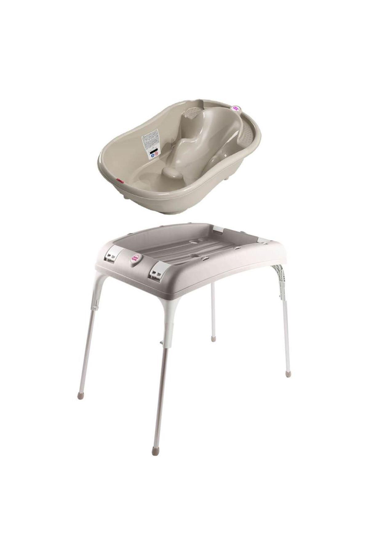 OkBaby Onda Banyo Küveti & Banyo Küvet Taşıyıcı / Gri