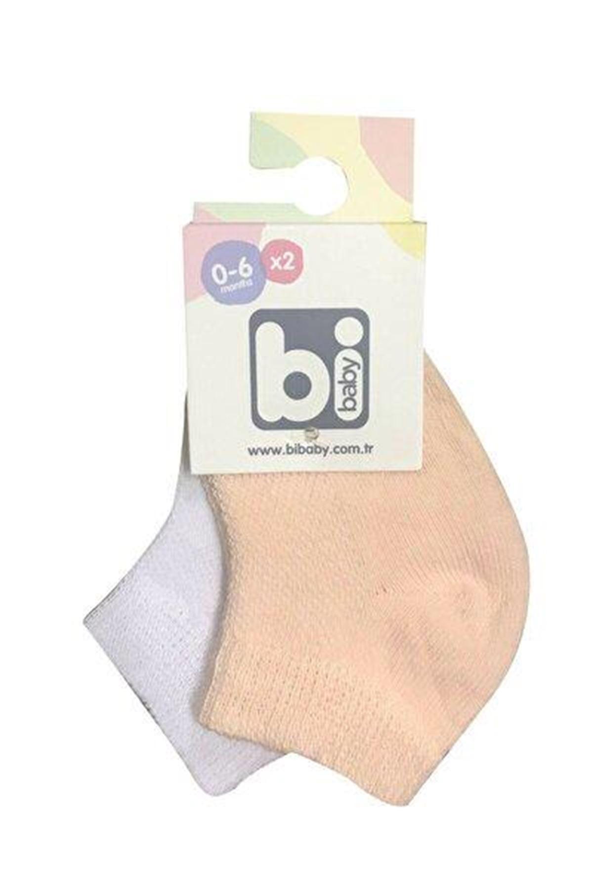 Bibaby Summer Patik Çorap 2Lİ 68355 Somon Beyaz