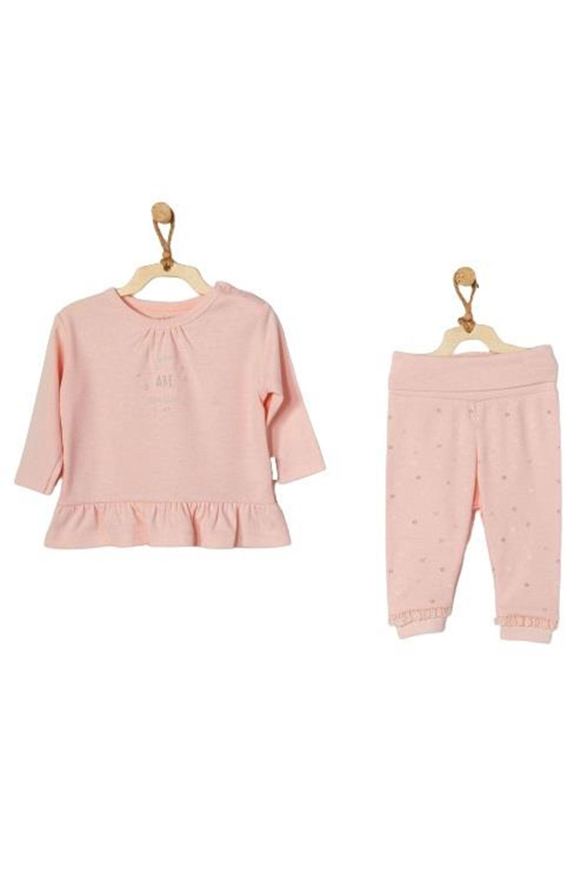 Andywawa AC22105 Home Sweet Home 2Li Bebe Takım Pink