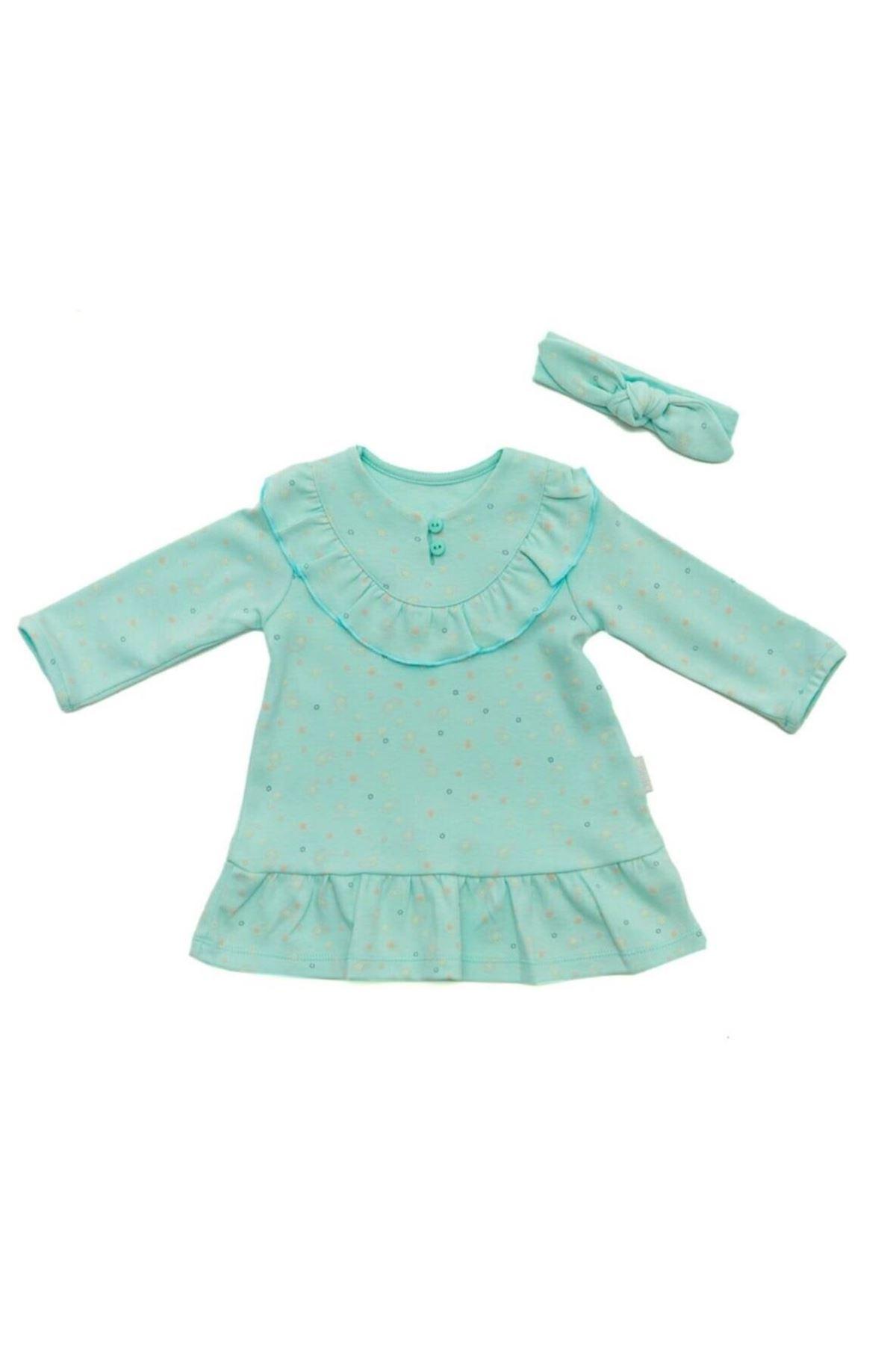 Andywawa AC22125 Home Sweet Home Kız Elbise Mint