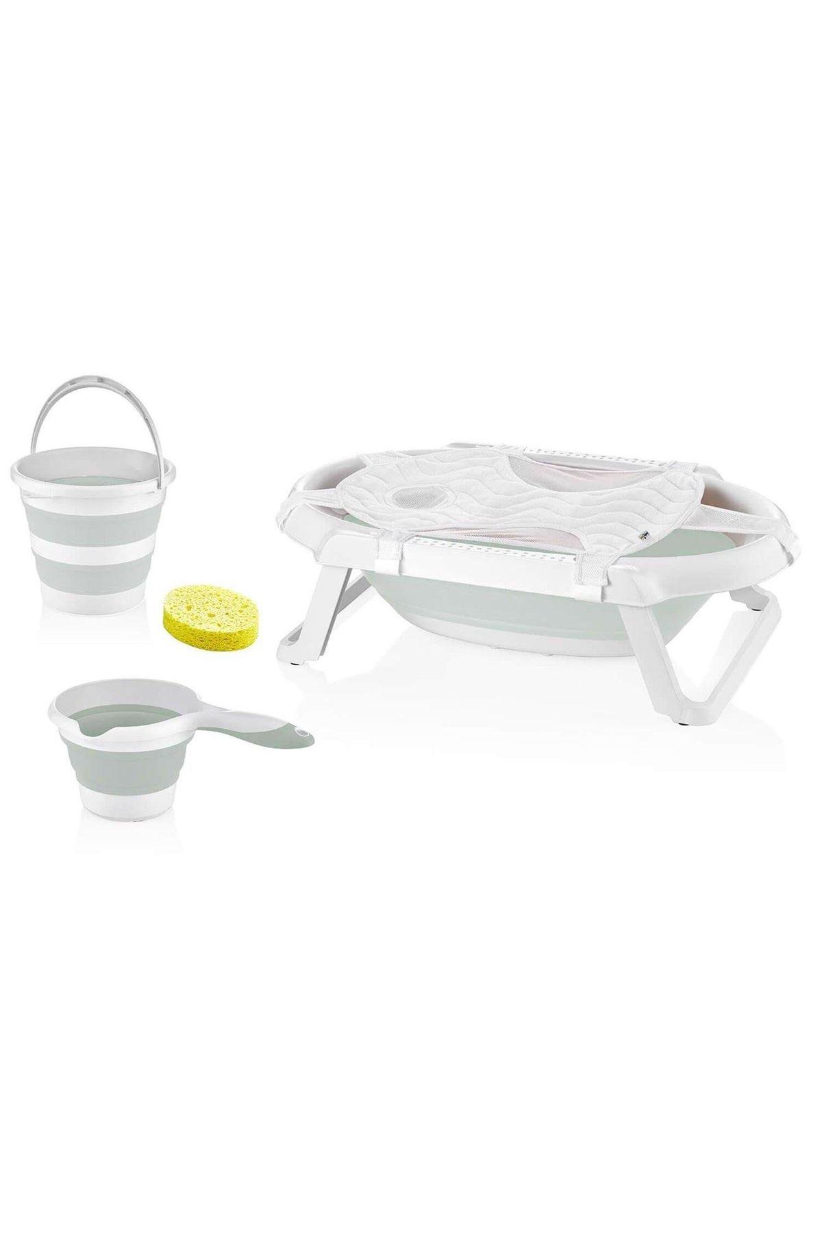 BabyJem Katlanabilen Bebek Banyo Küvet Seti 596 Gri