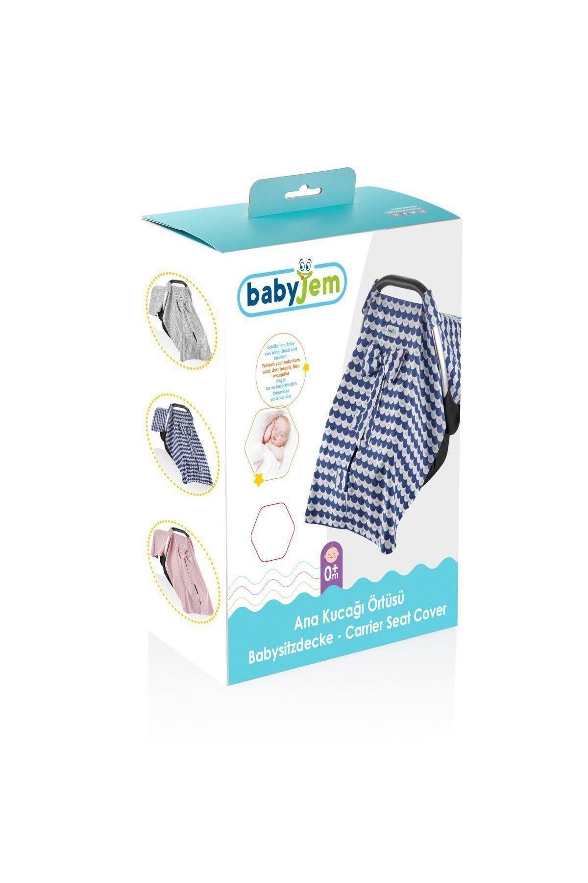 BabyJem Ana Kucağı Örtüsü 710 İndigo Balık