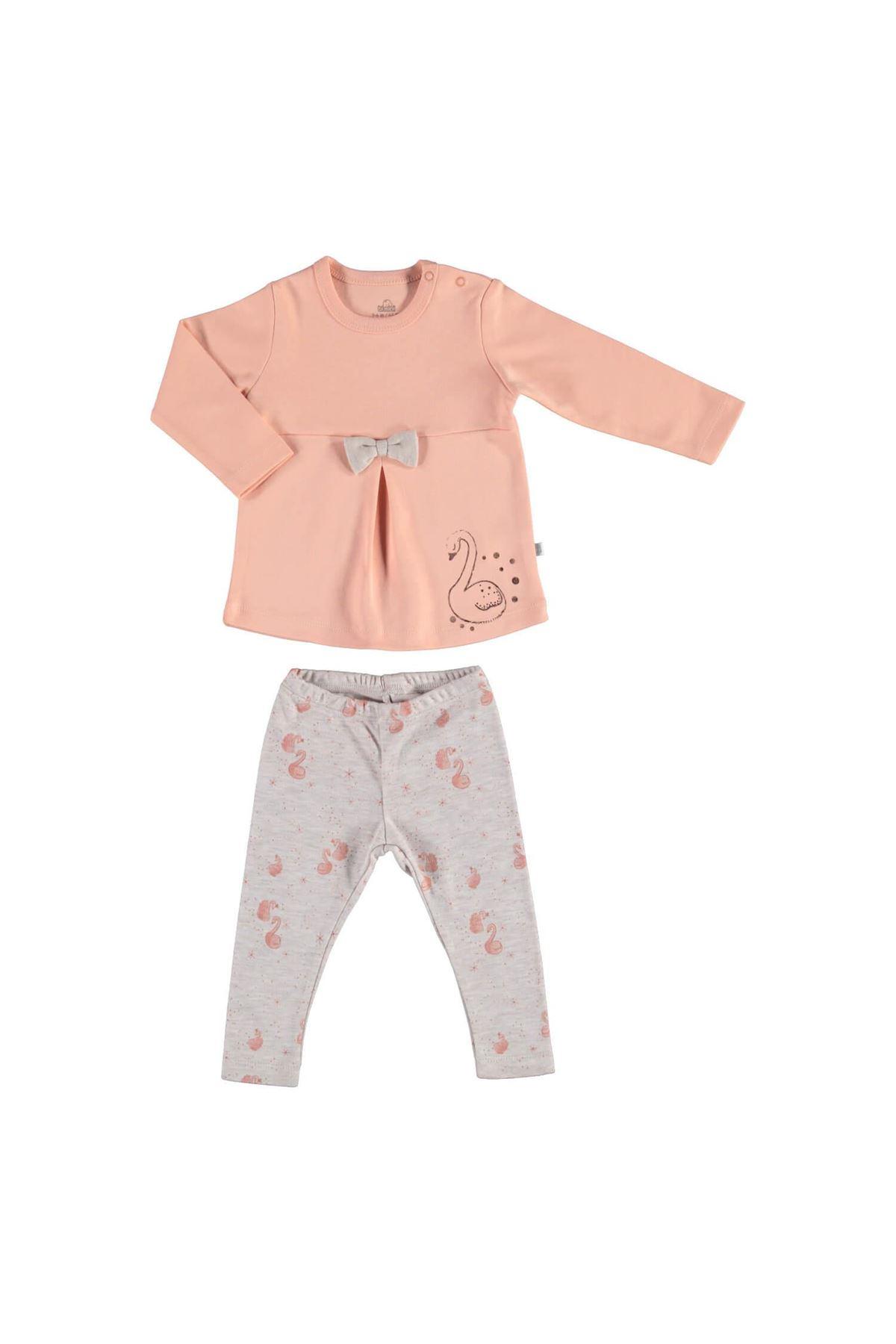 Bibaby Pink Royal 2Li Bebek Takım 59668 Somon Bejmelanj