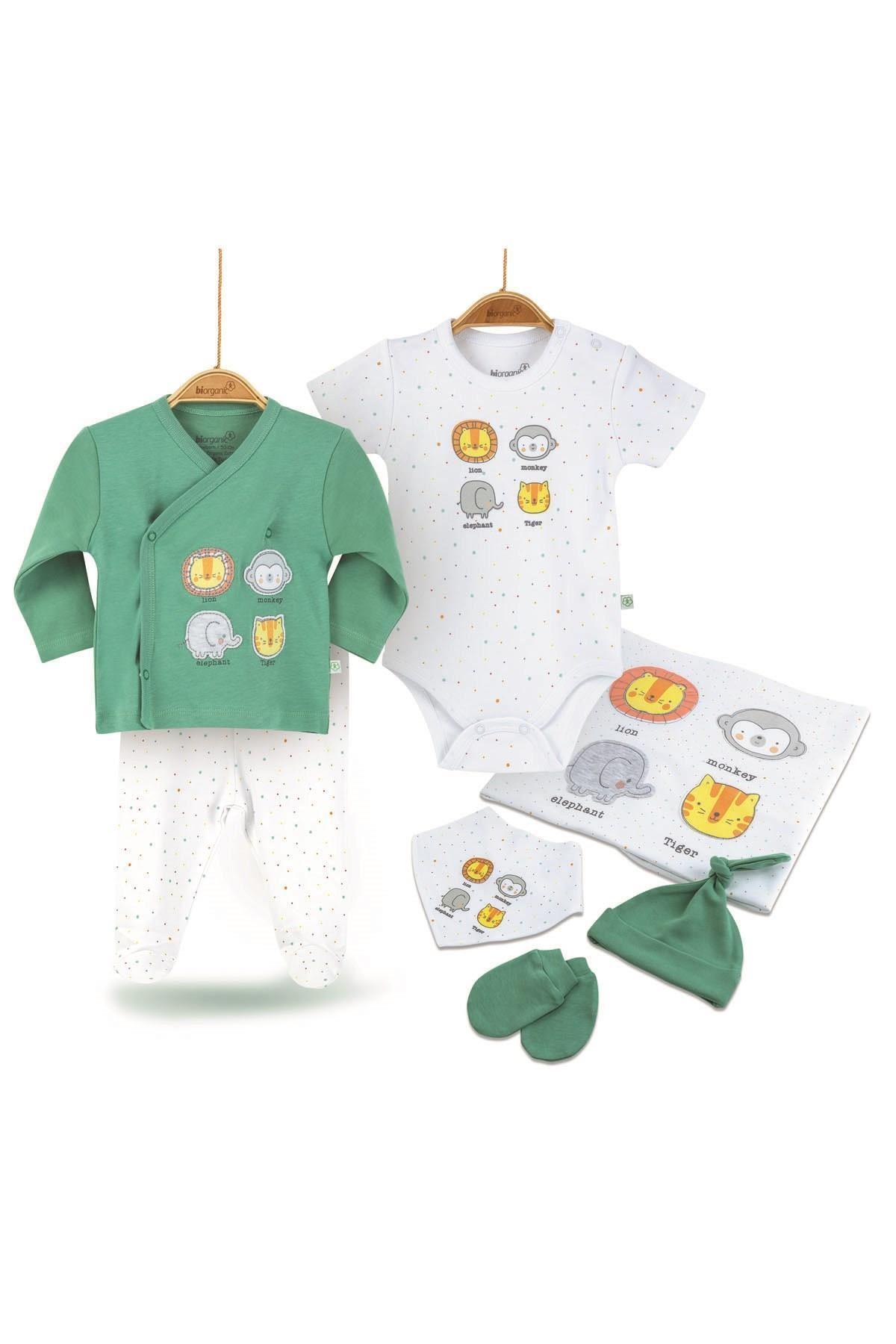 Bibaby Biorganic Anımals 7Li Set 63171 Yeşil