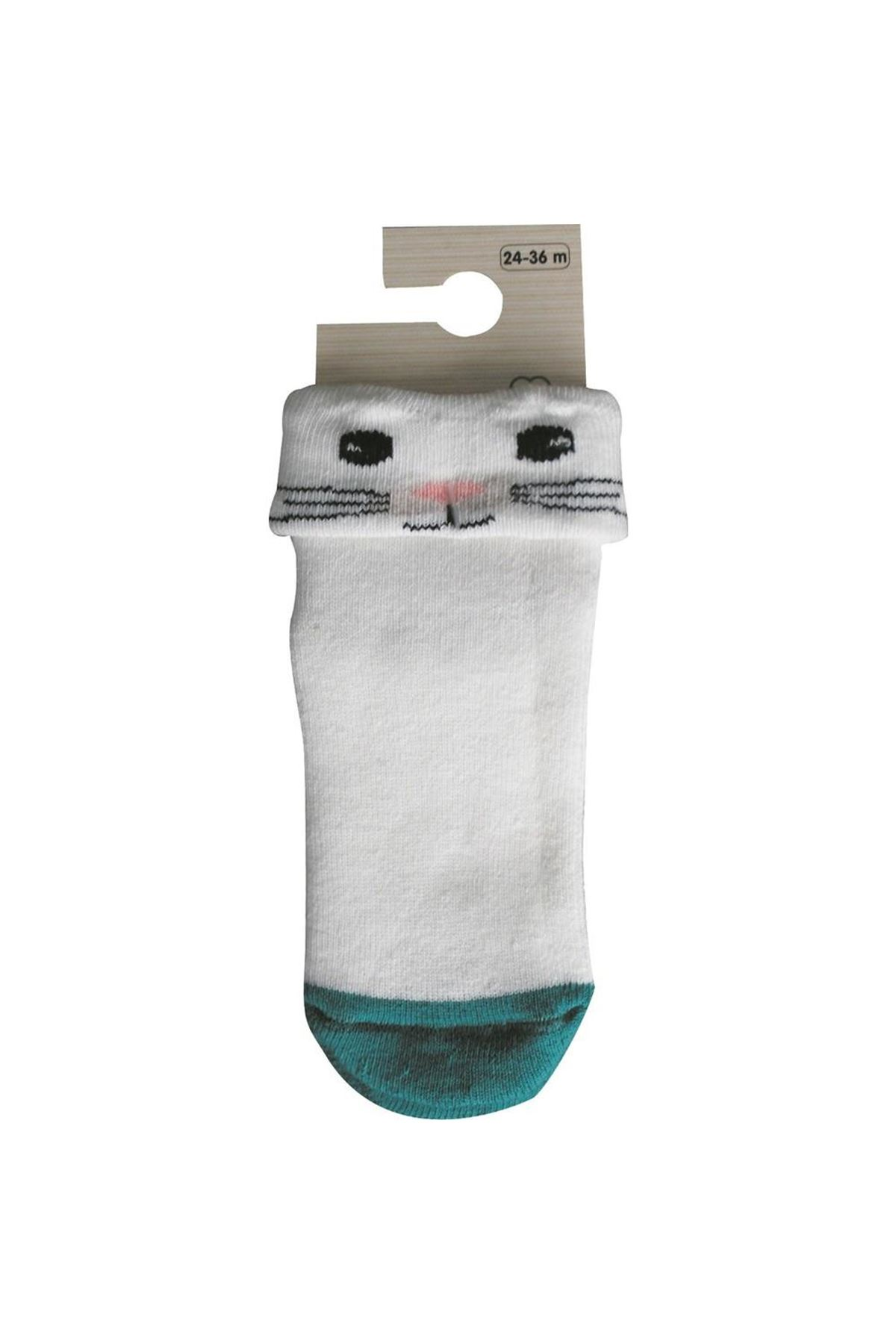 Bibaby Biorganic Cunning Havlu Çorap 68375 Ekru