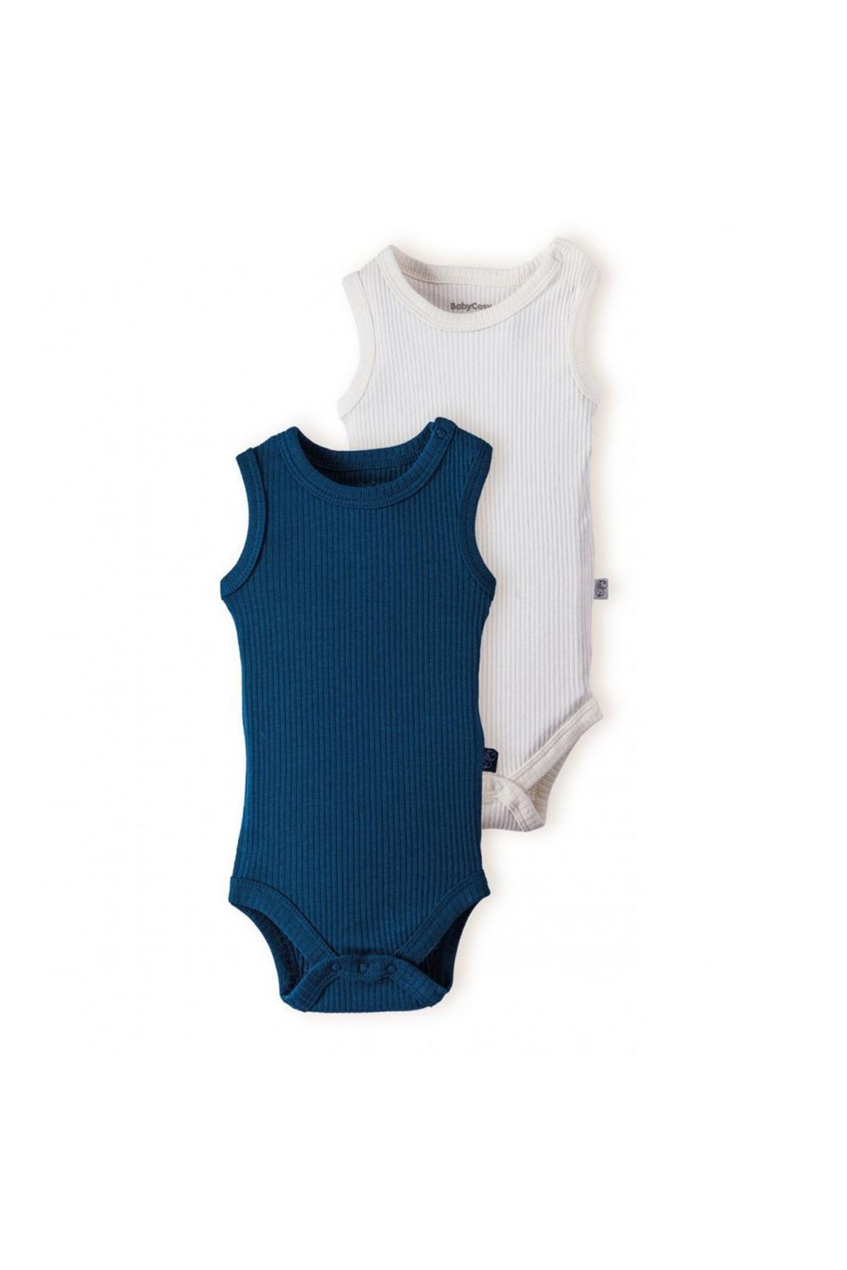 Baby Cosy 2Li Bebek Body 11102 Blue-Ekru